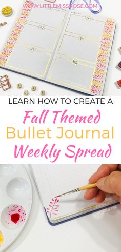 How to Create a Fall Themed Weekly Spread Making A Bullet Journal, Bullet Journal Font, Bullet Journal Printables, Bullet Journal How To Start A, Bullet Journal Junkies, Bullet Journal Spread, Bullet Journals, Bullet Journal Inspiration, Journal Ideas