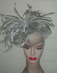 260 Silver/Grey Fascinator/Cocktail Hat