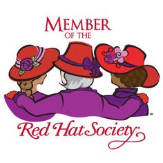 Red Hat Society Name Badges