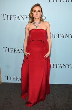 Diane Kruger in Kaufman Franco with Tiffany jewels attends the Tiffany & Co. Blue Book Gala on April 15, 2016