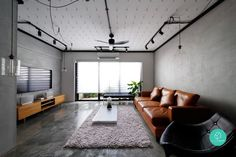 Transform your apartment from run-of-the-mill to outstanding pad with these steal-worthy HDB maisonette design ideas and tips! My Living Room, Living Room Interior, Interior Design Singapore, Kitchen Cabinet Styles, Kitchen Cabinets, Loft, Ceiling Design, Apartment Design, Industrial Style