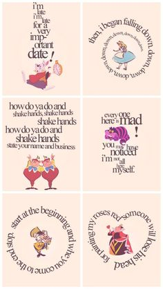 Quotes alice in wonderland cheshire cat mad hatter Alicia Wonderland, Alice And Wonderland Quotes, Alice In Wonderland Tea Party, Adventures In Wonderland, Alice In Wonderland Printables, Alice In Wonderland Artwork, Alice In Wonderland Characters, Disney Love, Disney Art