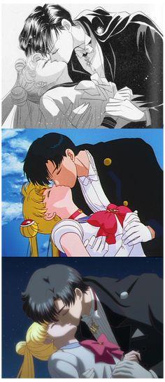Sailor Moon Y Darien, Sailor Moon Cat, Sailor Moon Girls, Sailor Moon Fan Art, Sailor Moon Crystal, Cristal Sailor Moon, Tuxedo Mask, Sailor Scouts, Sailor Moon Aesthetic