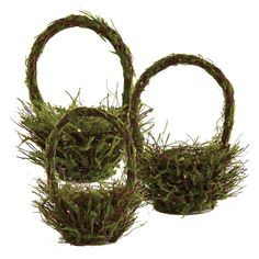 Round Moss Twig Baskets - Small