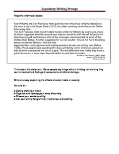 expository writing prompts 9th grade