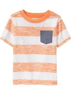 """Striped Chambray-Pocket Tees for <nobr><a href=""""#"""" class=""""FAtxtL"""" id=""""FALINK_6_0_5"""">Baby</a></nobr>"""