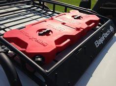 Rotopax installed in Baja Rack