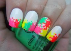 spatter nails. cute nails-nails-nails