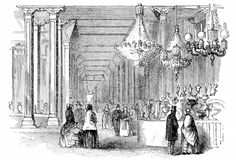 "INTERIOR VIEW OF THE ""PALACE."" 11th Exhibtion 1849"