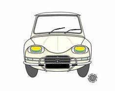 CITROEN ami 6 T-SHIRT choice of car and shirt by WheelsAllOver