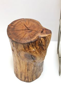 Tree Trunk End Table By Realwoodworks1 On Etsy