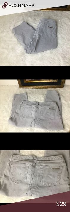 "Michael Kors Grey Designer Jeans Sz 10. Michael Kors Grey Designer Cropped Jeans Sz 10.  Waist 15.5"". Inseam 20"". Rise 8"". Michael Kors Jeans Ankle & Cropped"
