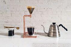 diy fabriquer une cafetière en cuivre