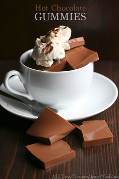 Get more healthy grassfed gelatin into your diet with these delicious and fun Hot Chocolate Gummies!
