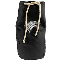 Karset House Stark Of Winterfell Vertical Bucket Cylindrical Shaped Canvas Beam Port Drawstring Sports Basketball Shoulders Backpack Bags