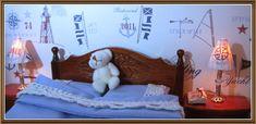 Puu sanomalehtipaperista - ohje - Tree from a newspaper - Tutorial Miniature Chair, Miniature Furniture, How To Get Warm, Minis, Nautical, Toddler Bed, Villa, Honey, Miniatures