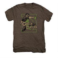 Green Lantern Ring Power Adult Premium Mocha Heather T-shirt |