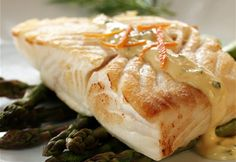 Tops Friendly Markets - Recipe: Alaska Halibut with Orange Bearnaise Sauce