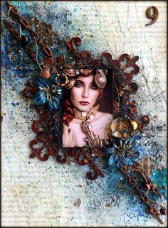 Valia's crafty world: 9 - Art Journal page by Valia Katzaki