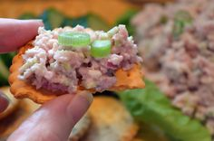 I'm almost positive that I wrote up this recipe for Ham Salad Spread once before to share on the blog and then lost my nerve. I remember taking photos and worrying, they're gonna hate this. It tast... Ham Recipes, Cooking Recipes, Ham Salad, Leftover Ham, Tea Sandwiches, Wraps, Appetizer Dips, Finger Foods, Finger Food