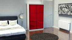 U Plan colourful wardrobe