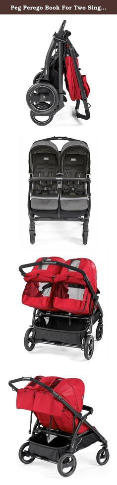 """Peg Perego Book For Two Single Car seat Travel System (Mod Red ). Measuring at just 29"""" wide, the Book for Two is the side-by-side double stroller that will get you through those busy sidewalks or narrow store aisles with ease. Not only is this double stroller compact, it comfortably sits two young children from birth, to 45 pounds. Primo viaggio 4/35 rear facing infant car seat takes the Peg Perego experience in child restraint systems to a new and improved level of safety and design…"""