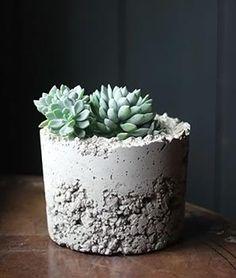 Como fazer vasos de cimento, dica para o final de semana - Vila do Artesão