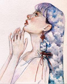 Surealism Art, Abstract Watercolor Art, Grunge Art, Muse Art, Cool Art Drawings, Portrait Art, Female Art, Art Girl, Sketches