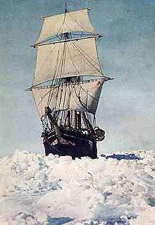 Endurance under full sail, 1915, Imperial Trans-antarctic Expedition