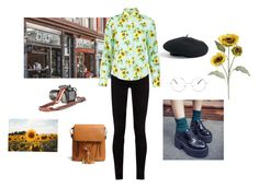 """""""Sunflowers"""" by samgumgee on Polyvore featuring Pier 1 Imports, Gucci, WithChic, Venus, Nasty Gal i Forever 21"""