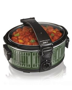 If you're planning on bringing something tasty to the tailgate – something like meatballs or a dip of some kind or maybe even chili – you might want to consider grabbing this football-themed slow cooker for $29.99!