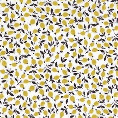 Liberty Ed citron coloris D 20 x 137 cm Liberty Art Fabrics, Lawn Fabric, Liberty Of London, Small Flowers, Fabric Flowers, Printing On Fabric, Quilts, Textiles, Curtains