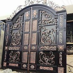 63 ideas for main entrance door design stairs Fence Gate Design, Steel Gate Design, Iron Gate Design, House Gate Design, Main Entrance Door Design, Main Door, Entrance Doors, Main Gate, Metal Gates