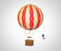 Hot air balloon in red [replica model]18cm x 30cm $59