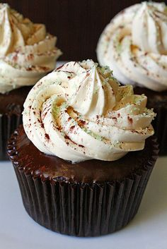 Guiness Cupcake with Bailey's Buttercream and Chocolate Ganache