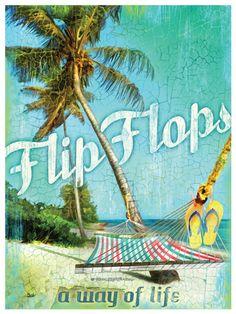 Flip Flops Way Of Life Print