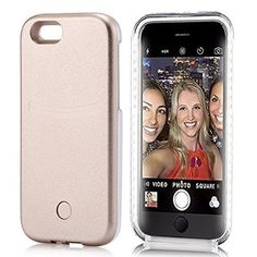 LATEST LED Light Up Selfie Luminescence Phone Cover Case Apple iPhone 6 Plus and 6S Plus