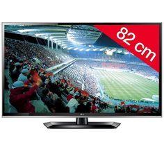 329€ LG Televiseur Led 32ls5600 HD TV 1080p, 32 pouces (82 cm) 16/9, 100Hz, TNT HD, Ethernet, HDMI x3, USB 2.0