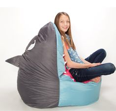 Fun and stylish character Bean Bags & Seating for babies, toddlers and teens. Shark Bedroom, Wooden Beach Chairs, Porter Chair, Swan Chair, Dining Room Chair Cushions, Kids Bean Bags, Sewing Table, Hanging Chair, Bean Bag Chair