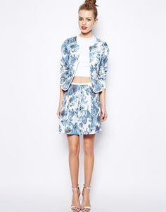 New Look Pixelated Skirt
