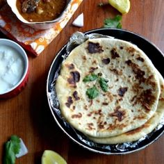 Indian flat bread stuffed with mashed potato...