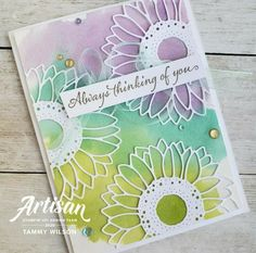 Sunflower Cards, Always Thinking Of You, Karten Diy, Decor Inspiration, Cards For Friends, Handmade Birthday Cards, Scrapbook Cards, Homemade Cards, Stampin Up Cards