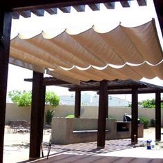 Roman Sail Shade Wave Canopy Cover Retractable Outdoor Patio Awning 9 X