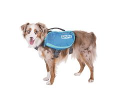 Outward Hound DayPak-Dog Backpack With 4 Expandable Pockets & D-Ring Leash Clip-Blue