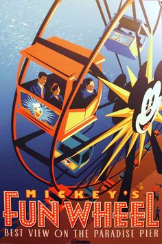 Vintage Disney Posters - Mickeys Fun Wheel