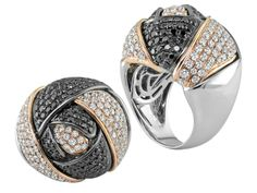 Custom 18kt White & Rose Gold Rosebud Ring. $7,350.