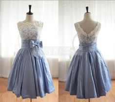 Hey, I found this really awesome Etsy listing at https://www.etsy.com/listing/177392324/short-lace-prom-dress-knee-length-prom *I love this!*