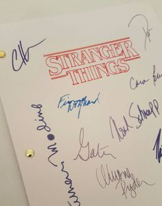 I think i might buy this for myself! Stranger Things TV Script with by TVandFilmScripts on Etsy