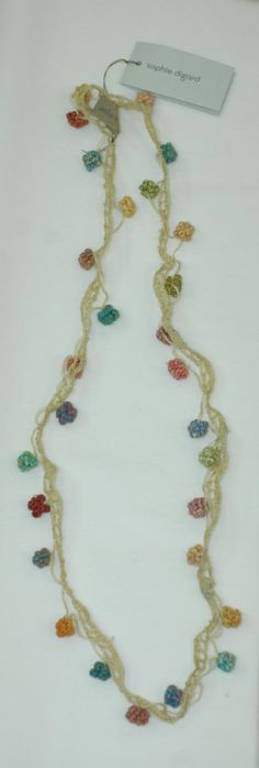 Sophie digard petite flower crochet necklace