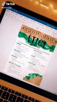 Ms Word Notes, Cute Notes, Pretty Notes, Life Hacks For School, School Study Tips, High School Life, School Organization Notes, School Notes, Bullet Journal School